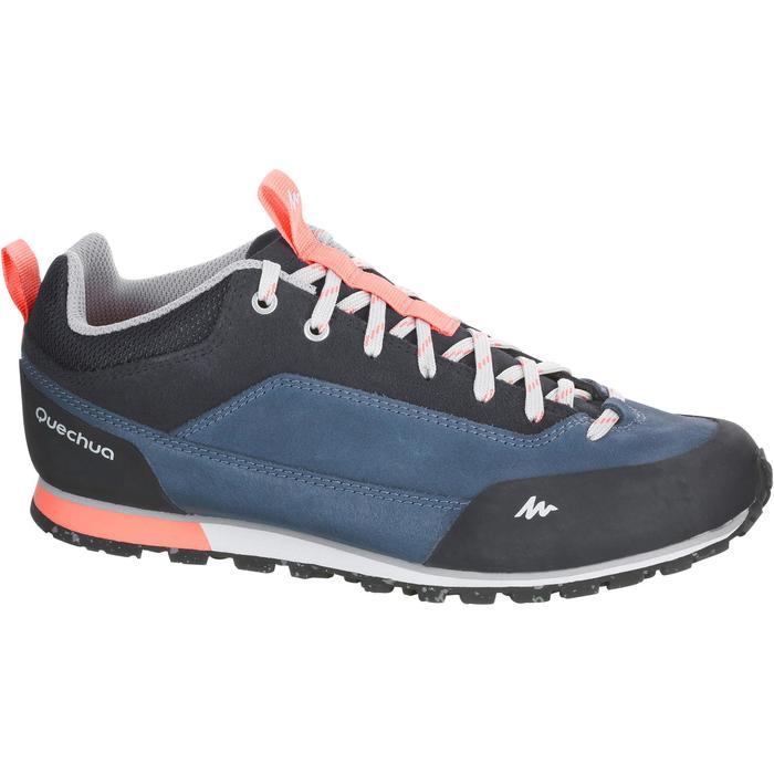 Schoenen voor wandelen in de natuur NH500 2018 blauw koraal dames