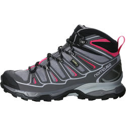 Halfhoge bergschoenen dames Salomon X Ultra GTX grijs/roze - 1144085