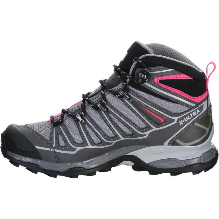 Chaussure de randonnée montagne Femme Salomon X Ultra Mid GTX Gris rose - 1144105