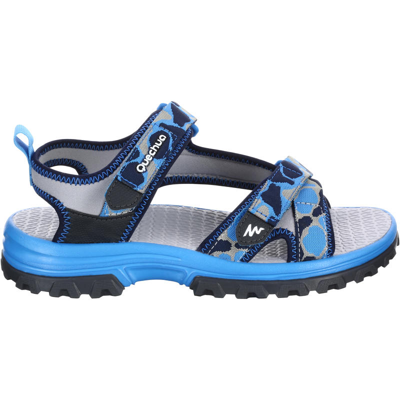 Arpenaz 100 Children's Hiking Sandals - camo blue