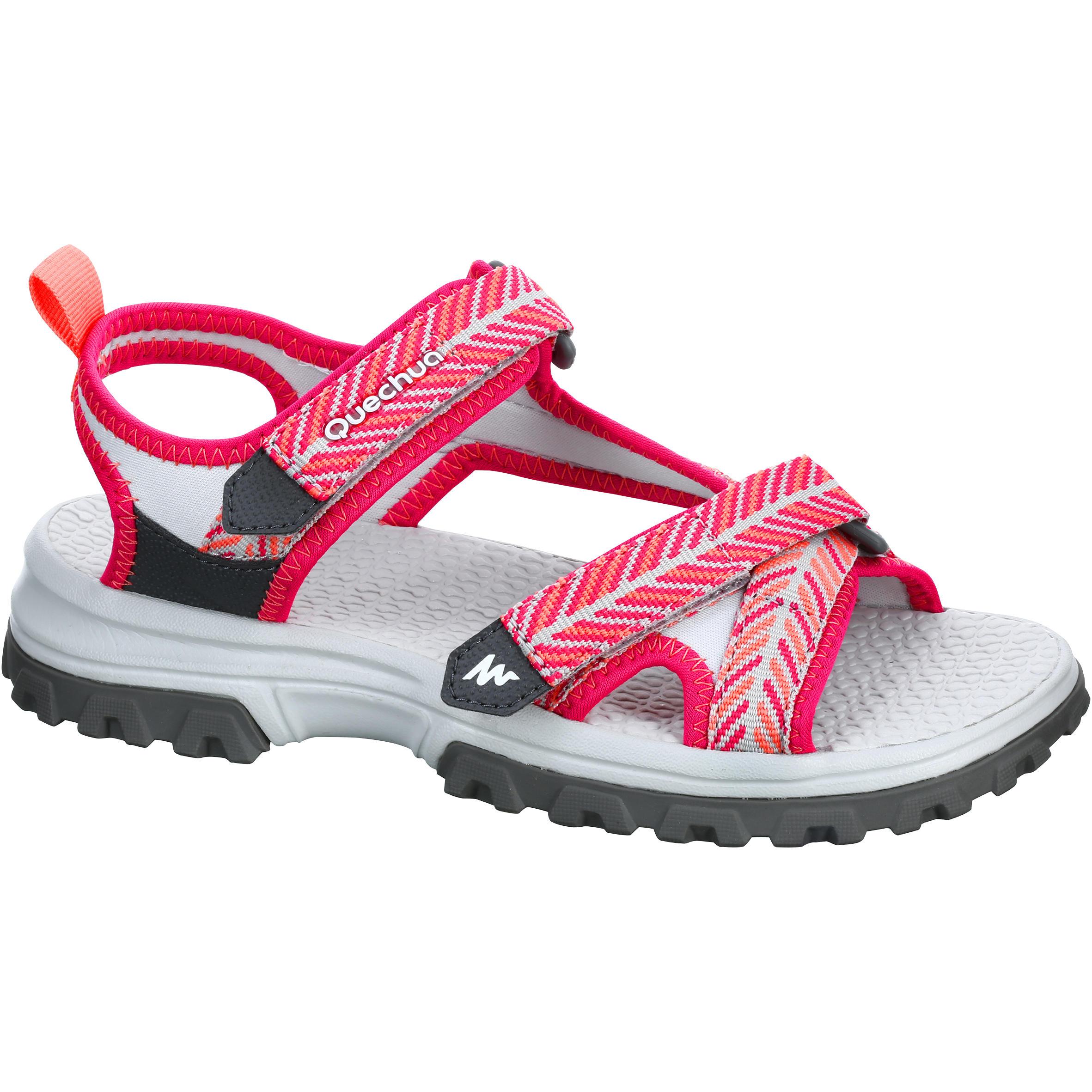 Sandalias de travesía Hike 500 niñas rosa