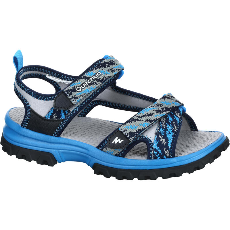 Kid's Mountain Hiking sandals MH120 TW Blue - jr size 10 to ad. size 6