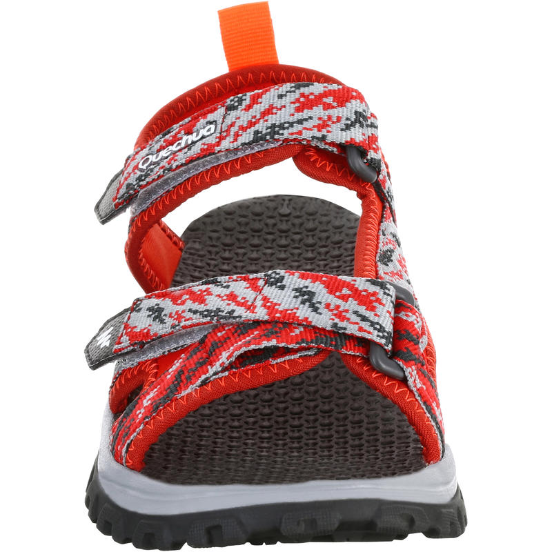 Children's hiking sandals MH120 TW red - jr size 10 to ad. size 6