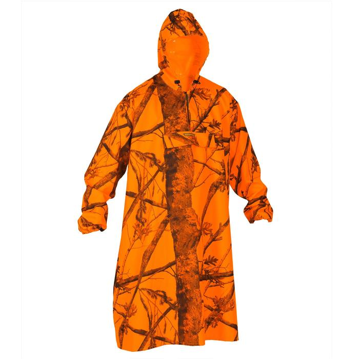 Poncho chasse battue camouflage fluo