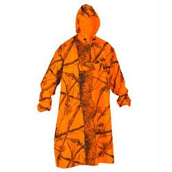 Poncho voor de drijfjacht fluo camouflage