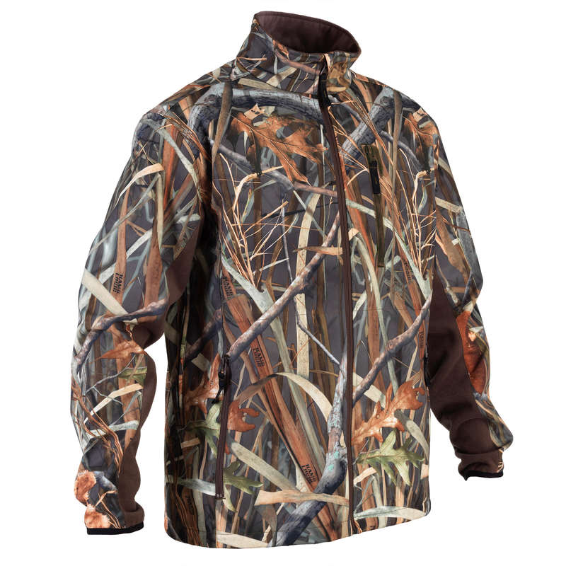 CAMOUFLAGE REEDS CLOTHING - SOFTSHELL 500 wetlands camo SOLOGNAC