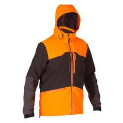 Chaqueta Caza Softshell 500 Naranja Fluo Marron