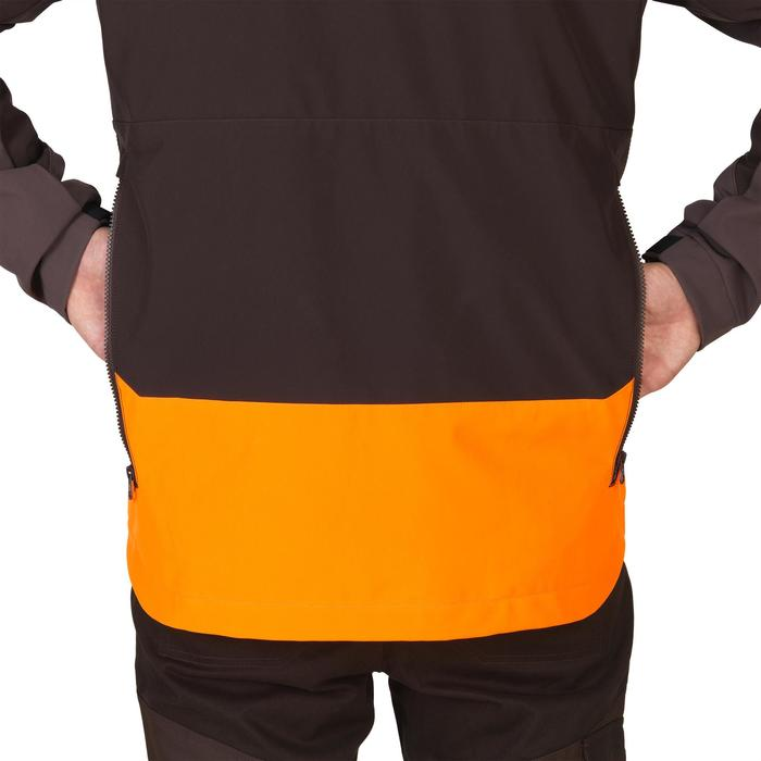 SOFTSHELL caza 500 FLUO/MARRÓN