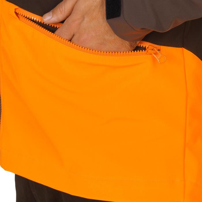 Softshell 500 voor de jacht fluo/bruin