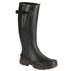 RENFORT 520 HUNTING RUBBER BOOTS WITH PLEAT - GREEN