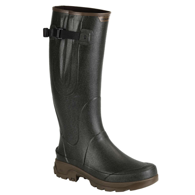 WELLIES Shooting and Hunting - GUSSET BOOTS RENFORT 520 GREEN SOLOGNAC - Shooting and Hunting