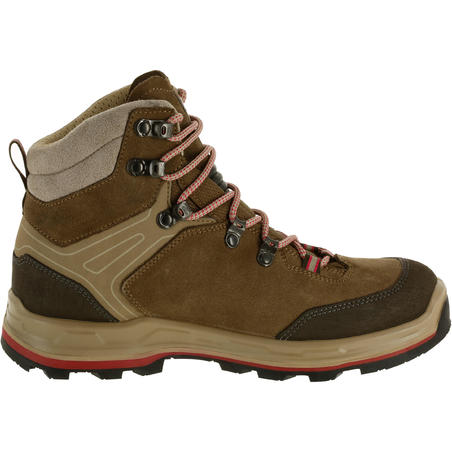 Women's Waterproof Trekking Boots TREKKING 100 - Brown