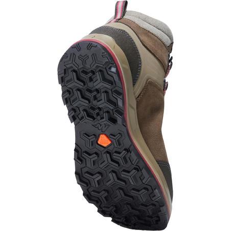 Chaussures imperméables de trek - TREKKING 100 marron -femme