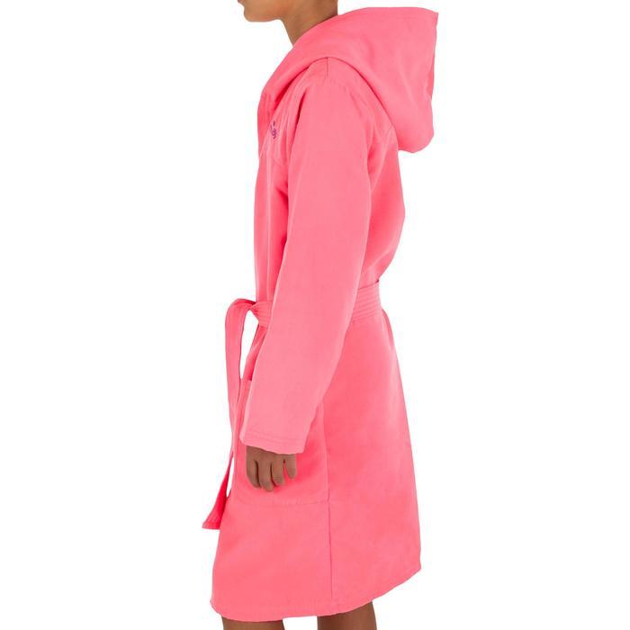 Set Bademantel und Mikrofaser-Badetuch L 80 × 130cm Kinder rosa