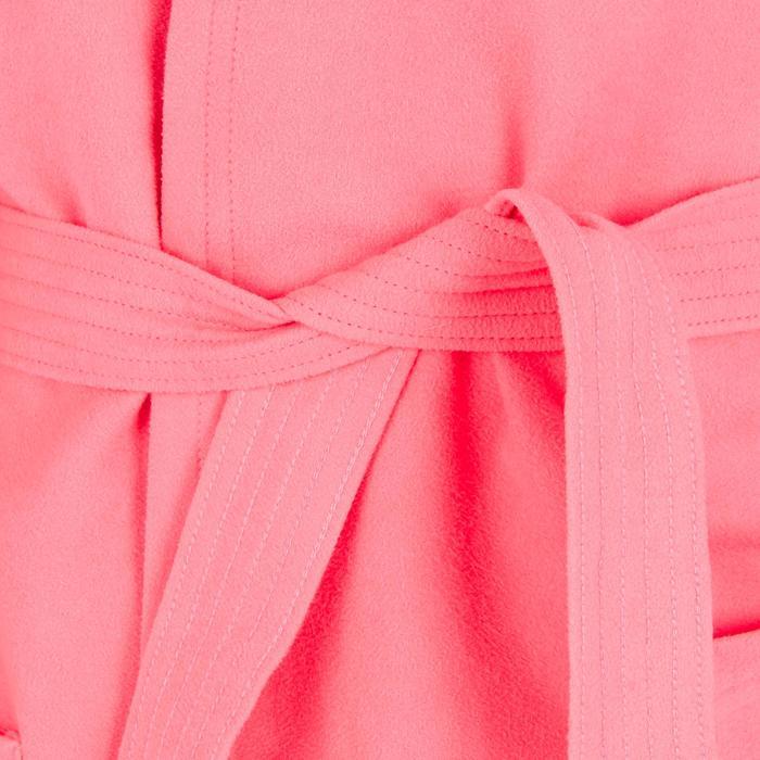 Set microvezel badjas en handdoek voor kinderen L 80x130 cm roze Nabaiji