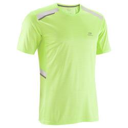 Heren T-shirt Run Dry+ N voor hardlopen geel