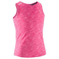 Top Kalenji Run Dry+ voor meisjes, voor hardlopen, gemêleerd roze