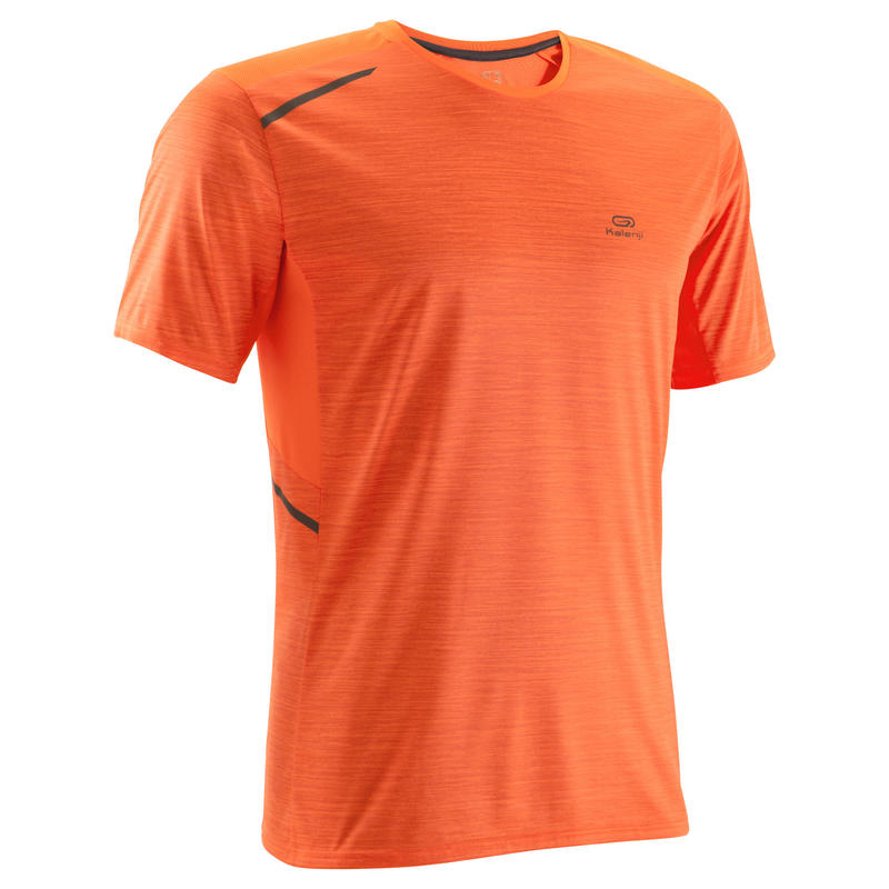 RUN DRY+ MEN'S RUNNING T-SHIRT ORANGE PRINT