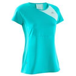 Dames T-shirt Eliofeel voor hardlopen grijs/roze