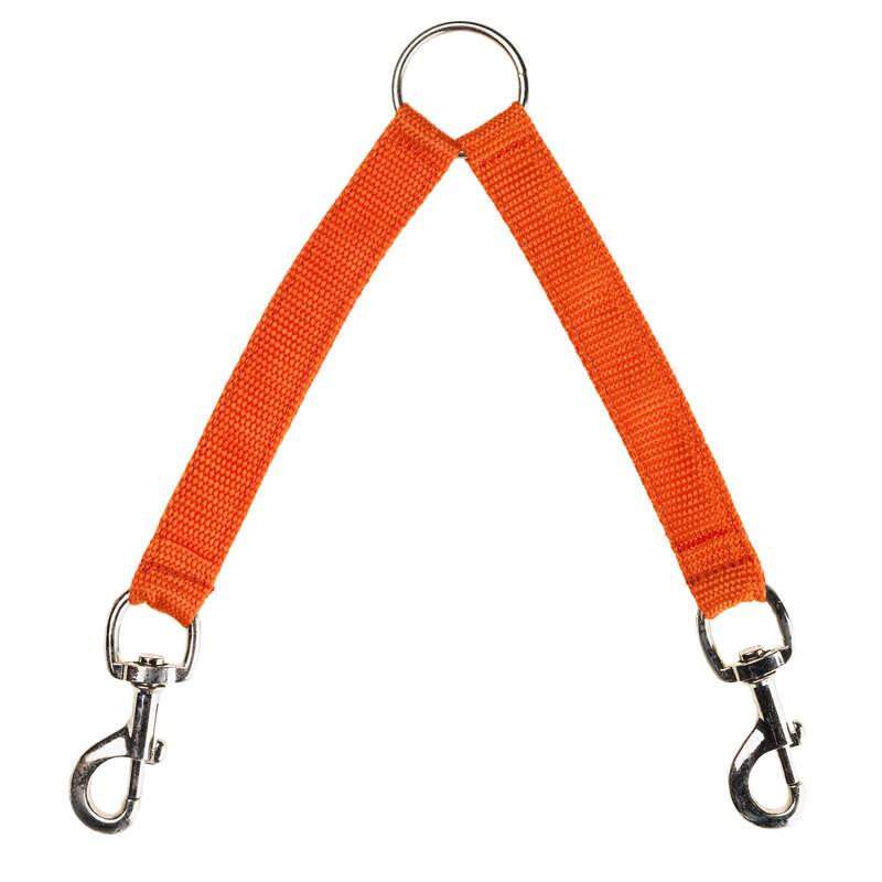 Accesorii câine Vanatoare - Curea 2 Câini portocaliu NO BRAND - Caine de vanatoare