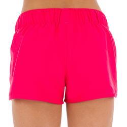 Korte meisjesboardshort met elastische tailleband roze