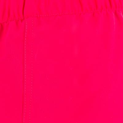Girls' Short Boardshorts with Elasticated Waistband - Pink