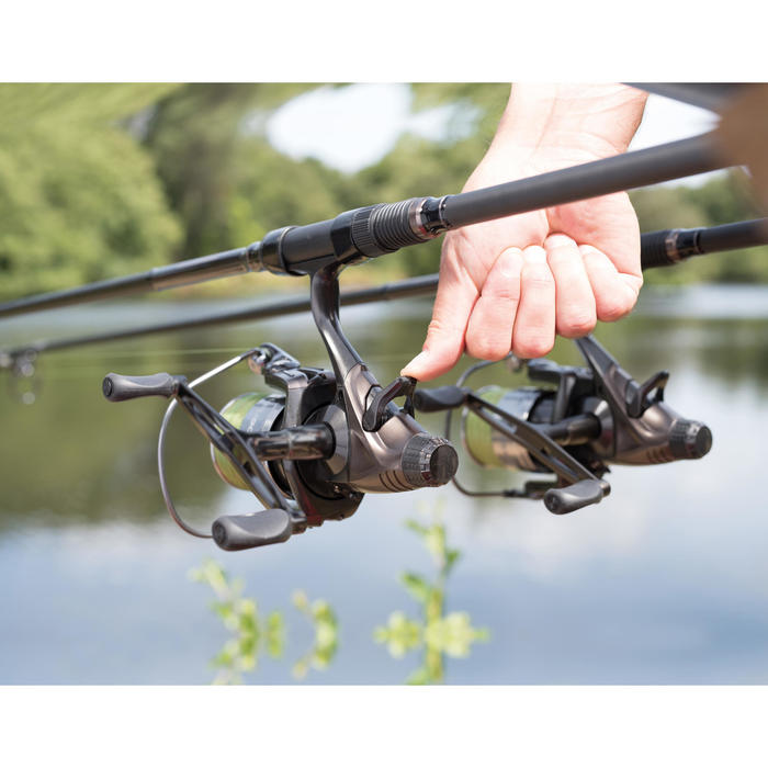 Vrijloopmolen dubbele slinger karpervissen Bigrunner-5 5000 DH