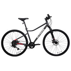 Hybrid Riverside 500 Bike - Grey/Red