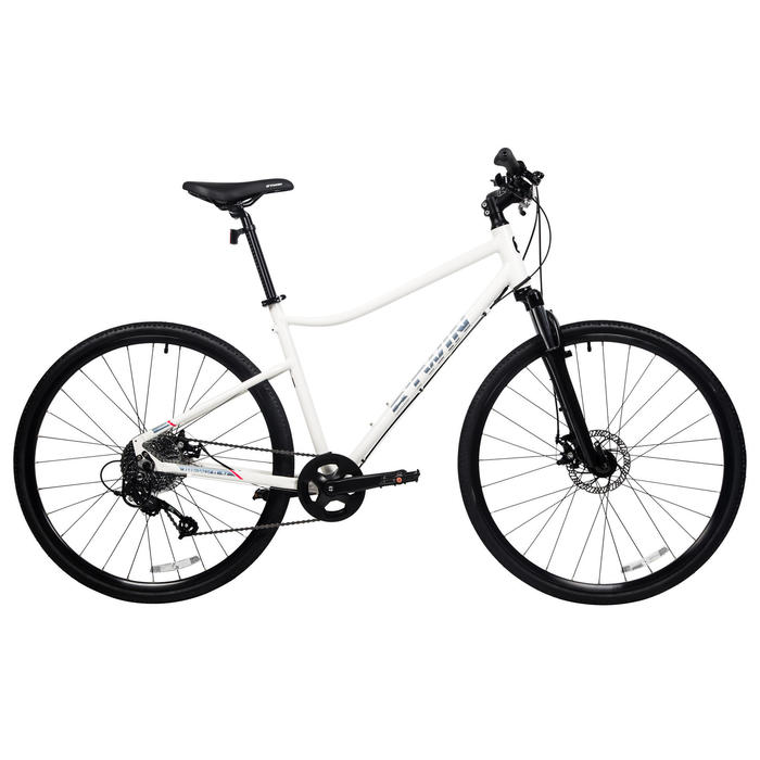 Riverside 500 Hybrid Bike - White/Red