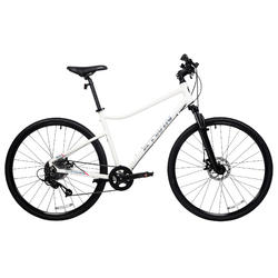 Riverside 500 Hybrid Bike - Grey/Red