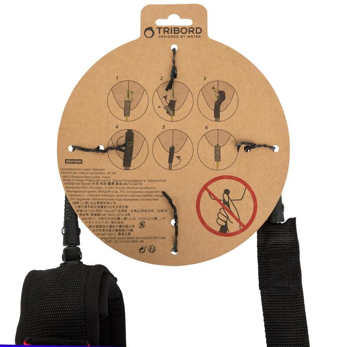 Leash voor longboard 9' (275 cm) diameter 7 mm zwart - 1144915