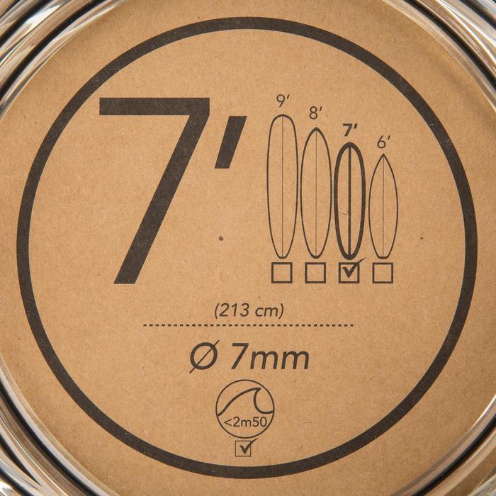 Leash surf 7' (210 cm) diamètre 7 mm noir