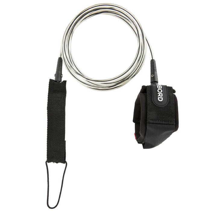 Leash voor longboard 9' (275 cm) diameter 7 mm zwart - 1144924