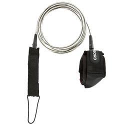 Leash voor longboard 9' (275 cm) diameter 7 mm zwart