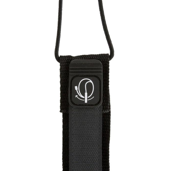 Leash surf 8' (240 cm) diamètre 7 mm noir