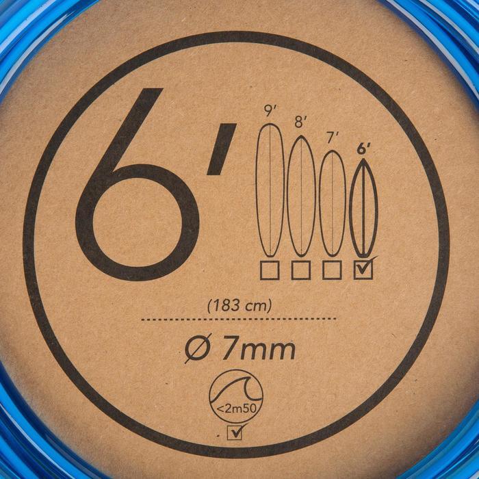 Leash surf 6' (183 cm) diámetro 7 mm azul