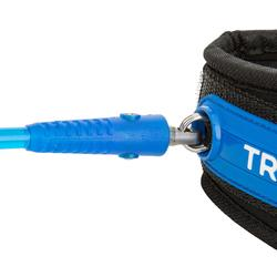 Leash spiralé bodyboard 900 bras bleu