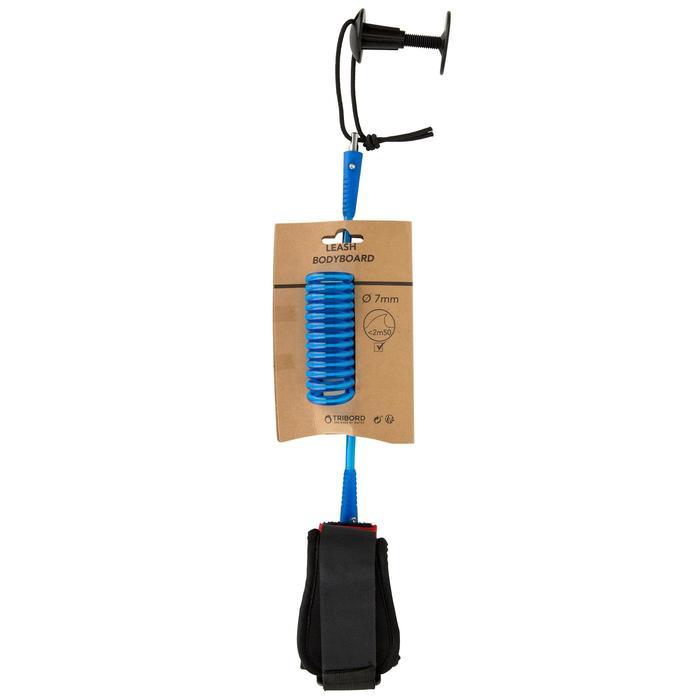 Spiraal leash voor bodyboard 900 arm blauw