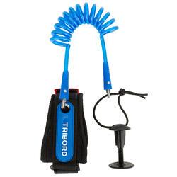Leash Bodyboard Olaian 900 Azul Espiral Brazo