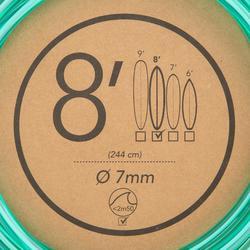 Surf-Leash 8' (240cm) Durchmesser 7mm grün