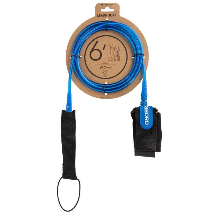 Surfleash 6' (183 cm ) diameter 7mm blauw