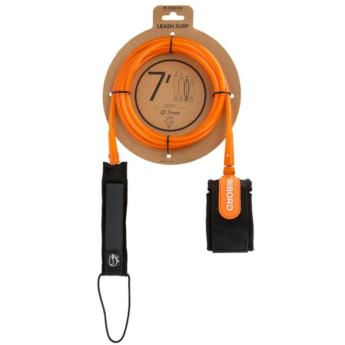 Leash surf 7' (210 cm ) diamètre 7 mm orange. - 1144981