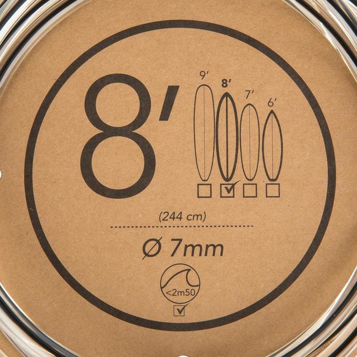 Leash surf 8' (240 cm) diámetro 7 mm negro