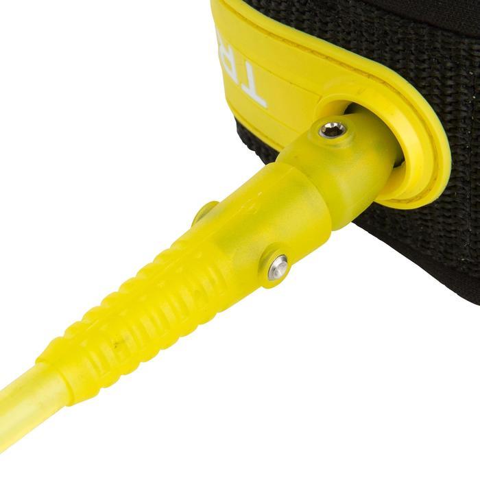Leash voor surfboard 6' (183 cm) diameter 7 mm geel