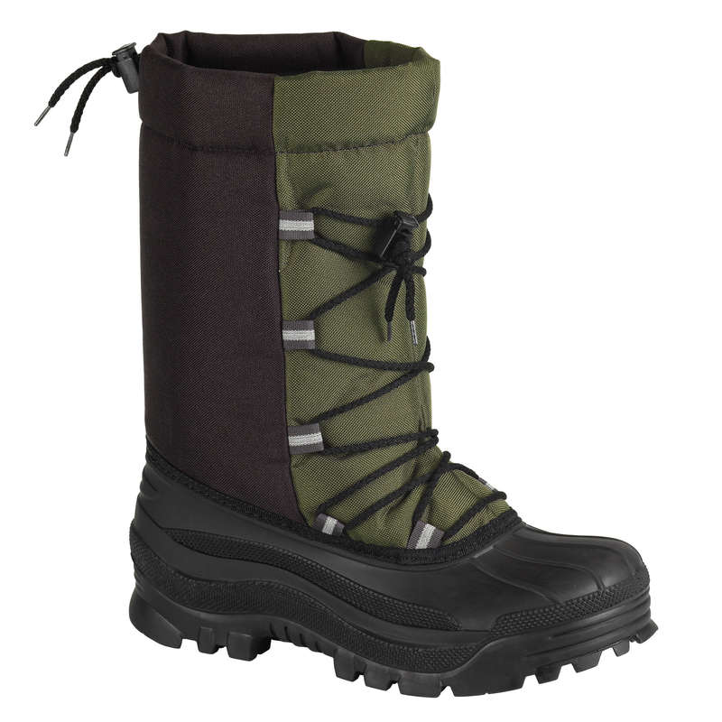 INSULATED WELLIES Shooting and Hunting - TOUNDRA 100 BOOTS - GREEN SOLOGNAC - Shooting and Hunting