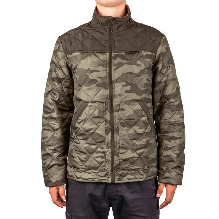 Quilted hunting jacket 100 - camouflage green - 1145003