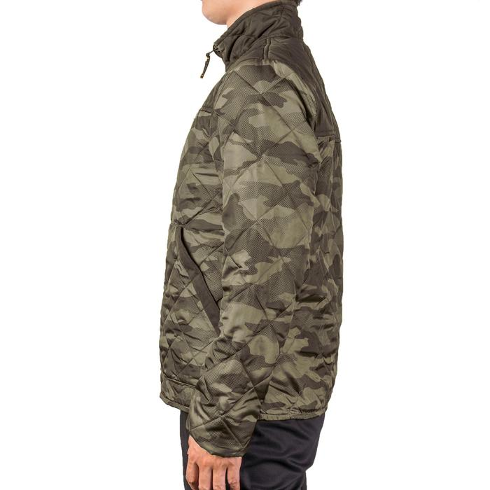 Quilted hunting jacket 100 - camouflage green - 1145004