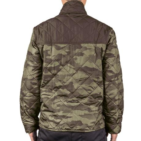 Quilted hunting jacket 100 - camouflage green | Solognac