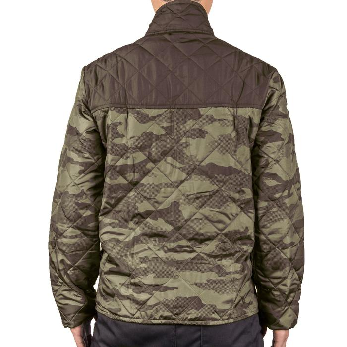 Quilted hunting jacket 100 - camouflage green - 1145006