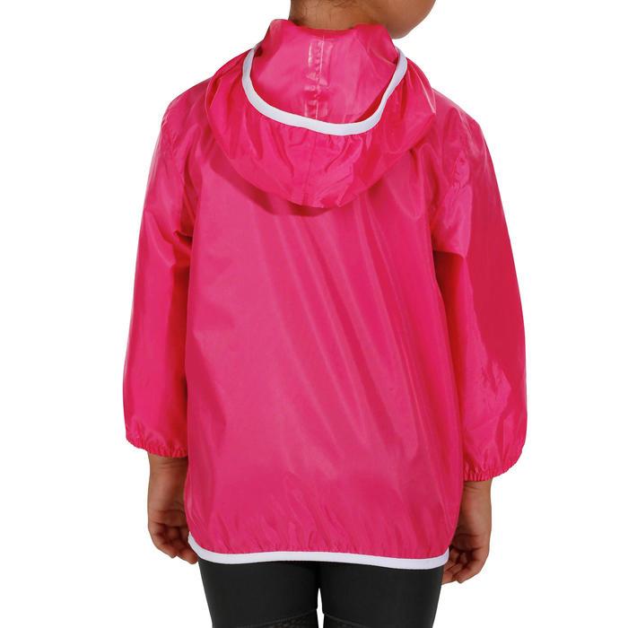 Chaqueta impermeable de senderismo júnior Raincut rosa